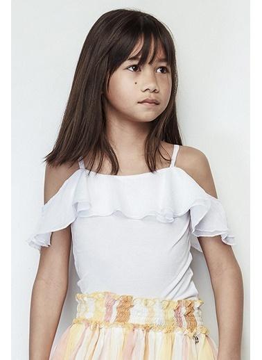 Tyess Kız Çocuk Beyaz Bluz 19SS2TJ4619 Beyaz
